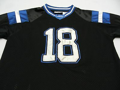 REEBOK - 18 - YOUTH SIZE MEDIUM JERSEY SHIRT! (PEYTON MANNING, COLTS COLORS)