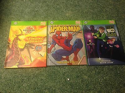 LeapFrog Tag Reader Book Lot of three Spider-Man Comics