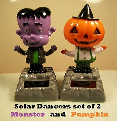 Solar Dancer MONSTER and PUMPKIN HEAD Set of 2 *NEW others available