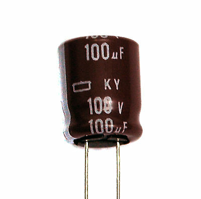 105℃ 7000hr Nippon Chemi-Con 8x11.5mm 20pc Electrolytic Capacitor KY 100uF 50V