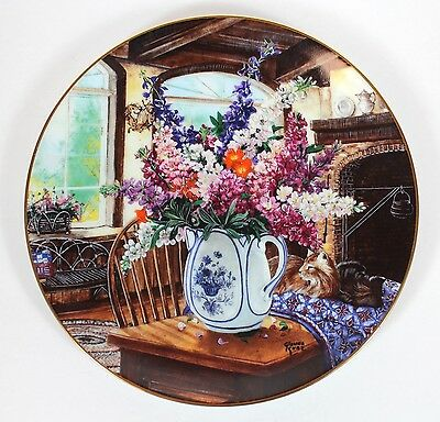 W. S. George Morning Sunshine Glenna Kurz Country Bouquets Fine Art China Plate