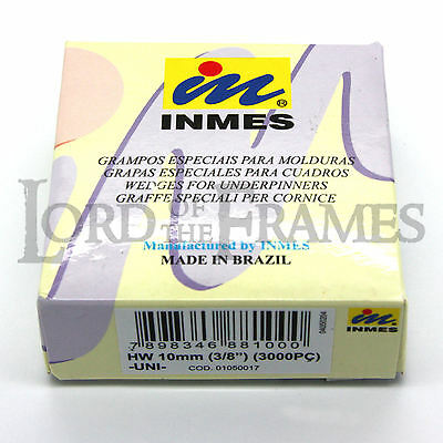 10mm Inmes Hard Wood Universal UNI Wedges V Nails - Join Picture Frame Corners