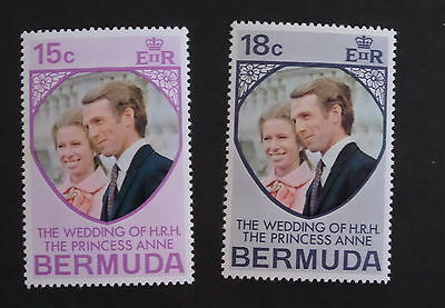 Bermuda 1973 Royal Wedding SG297/8 Princess Anne MNH UM unmounted mint