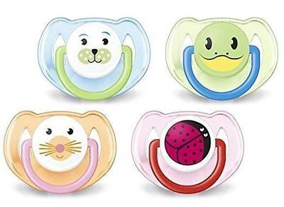 Philips Avent   *animal*  Silicone  Soother Boy/girls 6-18M  2 In Pack Bpa Free