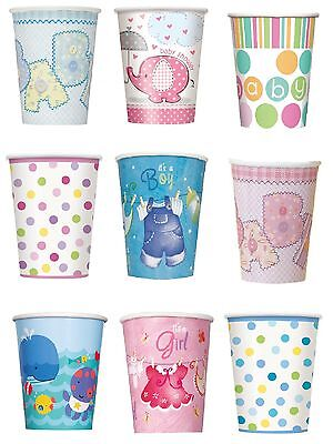 Baby Shower 8 Paper Cups 200ml (Boy/Girl/Party/Tableware/Decoration) 9 oz