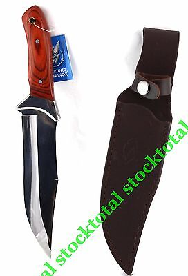 Cuchillo Caza Outdoor Aventura Funda Piel Mango Estamina 31584 M