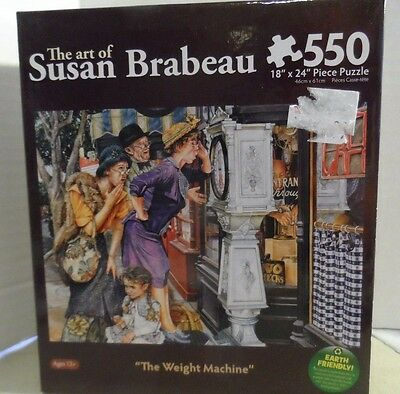 THE ART OF SUSAN BRABEAU THE WEIGHT MACHINE PUZZLE 550 PIECES NEW IN PACKAGE