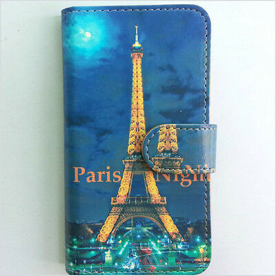 Brand new Night Paris 188 wallet Flip case cover for Samsung/iphone/Nokia/HTC