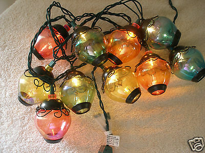 Plastic String Lights 10 Christmas Party Deck Lights Colorful Nice