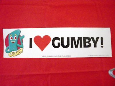 """36 Piece Wholesale LOT """"I Love Gumby"""" Bumper Stickers 1985 Old NEW Stock"""
