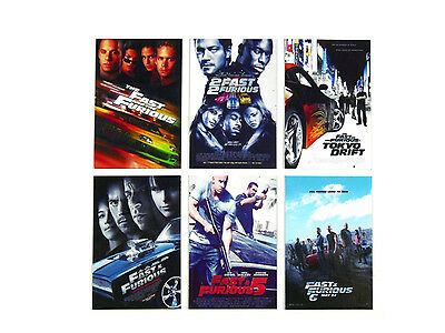 Fridge Magnet Fast and the Furious 1-6 Movie Set Paul Walker Classic Car Racing