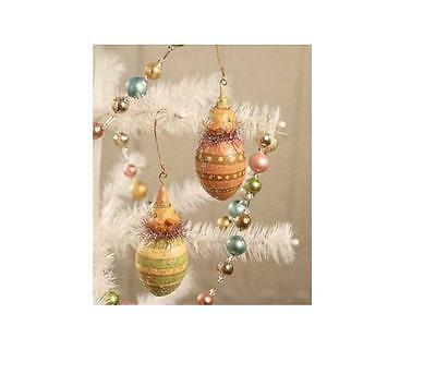 Bethany Lowe Easter Ornaments~ Egg and Chick~ S/2 ~Johanna Parker