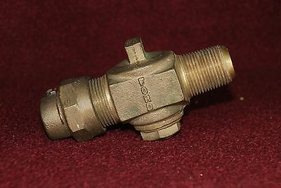 """3/4"""" mpt Water Stop Shut Off with Compression Fitting Ford Meter Co."""