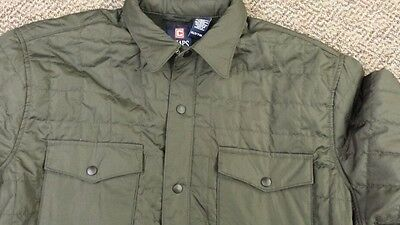 Chaps Polo Ralph Lauren Lightweight green Quilted Shirt Jacket Coat Mens size xl