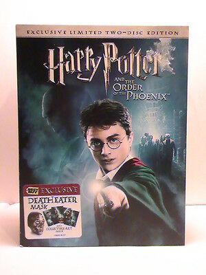 HARRY POTTER & THE ORDER OF THE PHOENIX DVD 2 DISC EDITION DEATH EATER MASK MISB