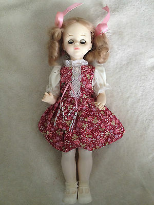 Vintage 1978 Horsman Doll w/ blinking eyes and handmade vintage doll clothes