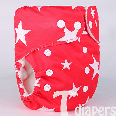 1x Reusable Adjustable One Size Baby Cloth Diaper Printed Nappy model B31