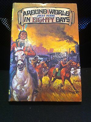 Vintage Dean & Sons AROUND THE WORLD IN EIGHTY DAYS by JULES VERNE  HB