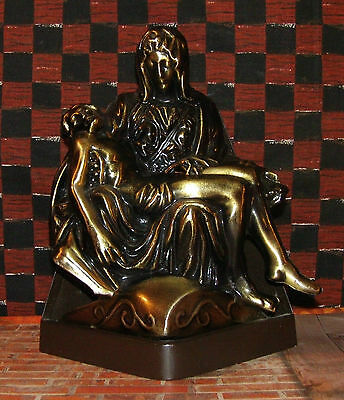 Pieta Religious Statue Mary Holding Jesus After Crucifixtion 5 x 6-7/8""