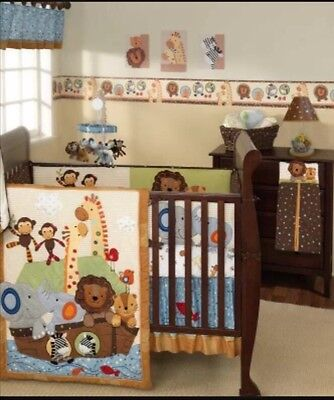 Jungle 5-piece  Baby Crib Bedding Set by Lambs & Ivy WITH LAMP AND MOBILE!!!!!!