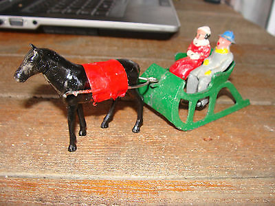 Vintage Barclay winter Sleigh and riders winter figures