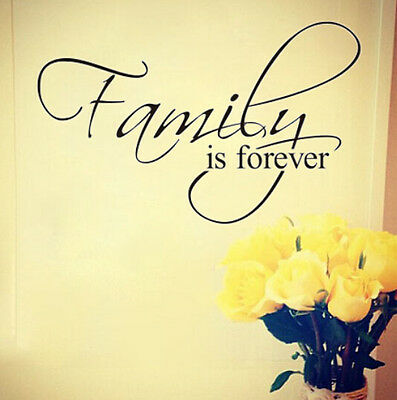 Family Is Forever vinyl lettering wall sticker home art decor decal mural quote