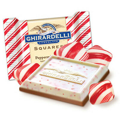 GHIRARDELLI  PEPPERMINT BARK CHOCOLATE 120 Pieces - 3 lbs INDIVIDUAL WRAP PIECES