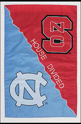 "North Carolina Tar Heels NC State Wolfpack NCAA House Divided House Flag 28""x44"""