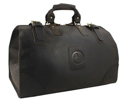 Vintage Crazy Horse Leather men travel bags Tote luggage duffle bag weekend bag