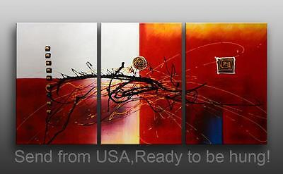 """Oil Painting - 72x36""""H Stretched Canvas Abstract Art Deco"""