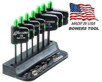Bondhus 7pc Flag Handle Torx Star Tip Wrench Set T6-T20 MADE IN USA 34445