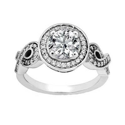 1.92 ct. TW Round Diamond Engagement Ring Twisted Shank in Platinum