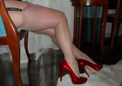 Vintage Nylons-How Stockings Used to Be! Available in Nude, Red, Black or White
