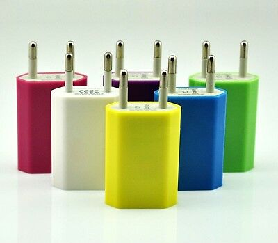 European USB AC Power Adapter EU Plug Wall Charger For iPhone5 iPhone4 3G 3GS