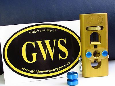 Grip it and strip it™ Golden wire stripping machine, Wire stripping tool, copper