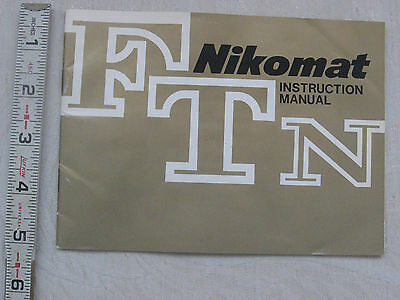Original Nikon Nikkormat FTN instruction manual/book