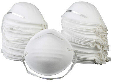 50 Piece Disposable Dust Masks (Particle Safety Air Filter with Nose Guard)
