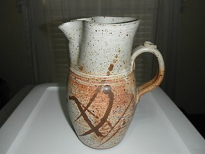 Stoneware Pitcher Brown and Gray 9 Inches Tall by Michael Padgett