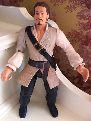"""Pirates of the Caribbean Will Turner PRIATE 7.25"""" Action Figure Zizzle Disney"""