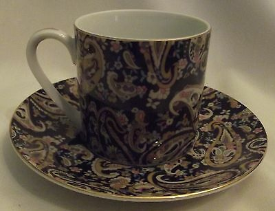 Takahashi San Francisco PAISLEY demitasse tea cup and saucer JApan