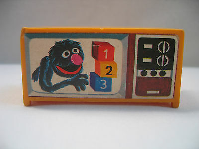 Vintage Fisher Price Little People Sesame Street Grover TV