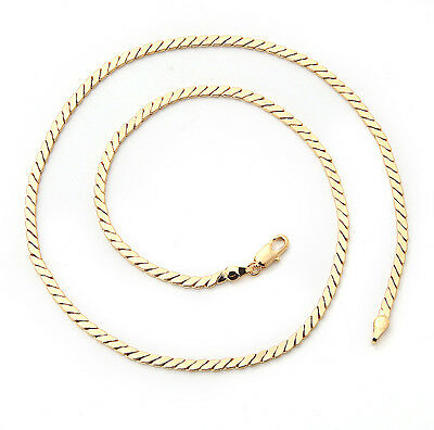 Elegant 18K Solid Yellow Gold Filled GF Necklace Chain For Man As Gifts C140