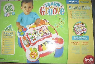 LeapFrog Learn & Groove Musical Table pre-owned in box