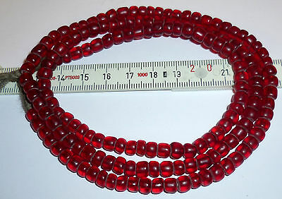 sams-beads® STRAND VENETIAN CONTERIE RUBY RED PADRE TRADE BEADS early19.th