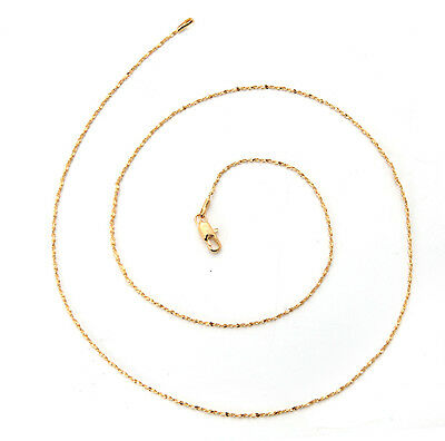 Elegant 18K Solid Yellow Gold Filled GF Necklace Chain For Man As Gifts C136
