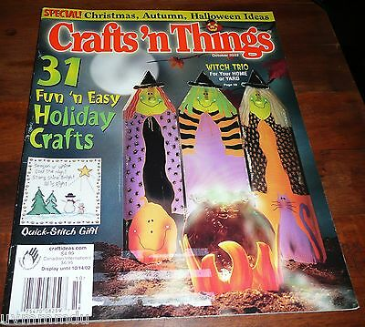 Crafts n Things Magazine Dec 2002 Witch Trio for Yard / Witch Air Freshener