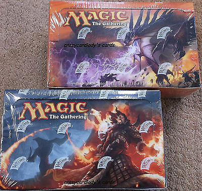 MAGIC THE GATHERING DRAGONS OF TARKIR & FATE REFORGED BOOSTER BOX LOT OF 2