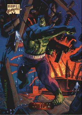 1994 Marvel Masterpieces #50 Hulk - NM-MT