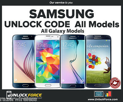 Fido Rogers Samsung Galaxy S4 S5 S6 Note 3 4 5 Edge Alpha Core Ace Unlock Code