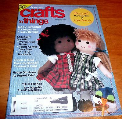 Crafts n Things Magazine Sept 1992  reuse jeans / duck bank / bookends
